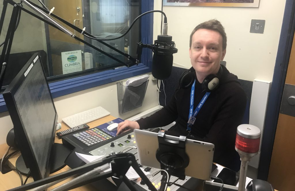 Joe Akrigg, Saturday Sport presenter at Bay Trust Radio
